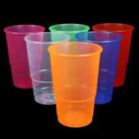 Plastic cups – clear or assorted colours